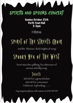 Spirits and Spooks Flyer