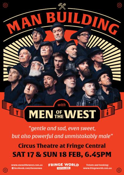 Men of the West - Manbuilding poster for Perth Fringe 2018